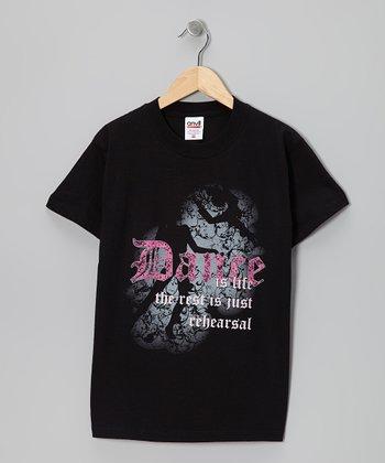 Dance World Bazaar Black 'Dance Is Life' Tee - Girls & Women