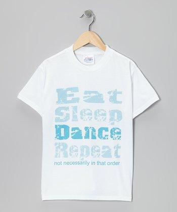 White 'Eat Sleep Dance' Tee - Girls & Women