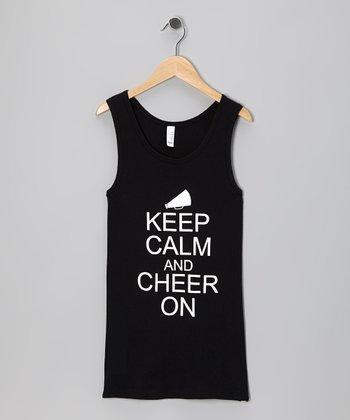 Dance World Bazaar Black 'Keep Calm' Tank - Girls & Women