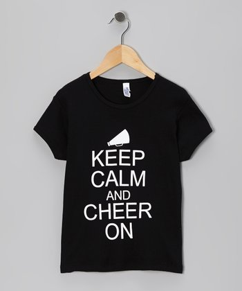 Black 'Keep Calm' Tee - Girls & Women