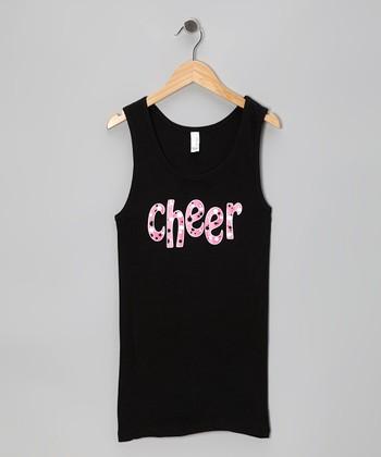 Black 'Cheer' Tank - Women