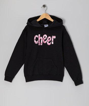 Black 'Cheer' Hoodie - Girls & Women