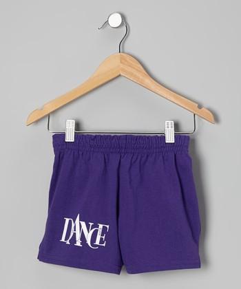 Purple 'Dance' Shorts - Girls & Women