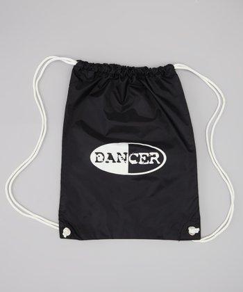Black 'Dancer' Drawstring Backpack