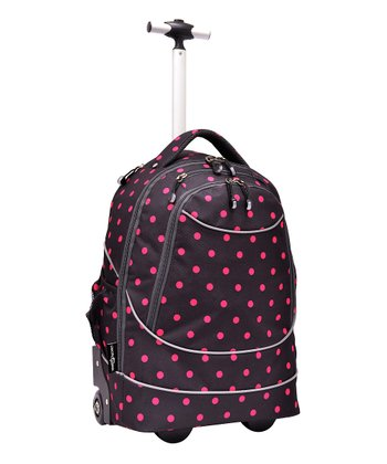 Red Dot Pacific Gear Horizon Rolling Laptop Backpack