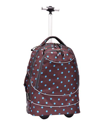 Turquoise Dot Pacific Gear Horizon Rolling Laptop Backpack
