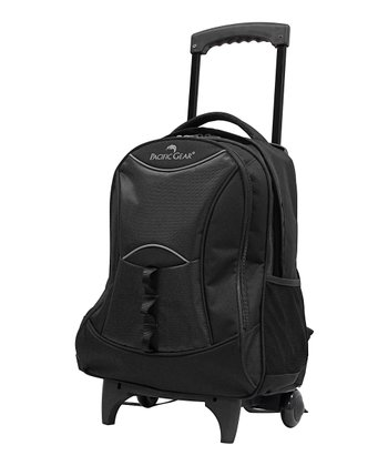 Black Pacific Gear Wheeled Backpack