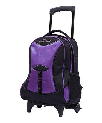 Purple Pacific Gear Wheeled Backpack