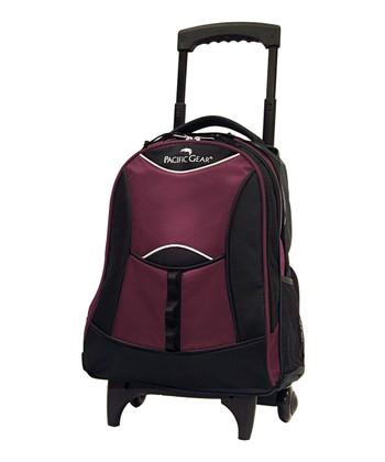 Burgundy Pacific Gear Wheeled Backpack