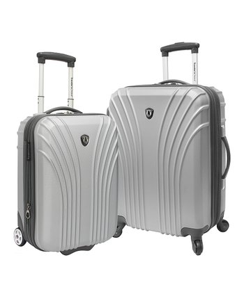 Silver Lightweight Harside Carry-On Set