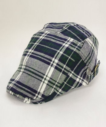 Blue Plaid Cap
