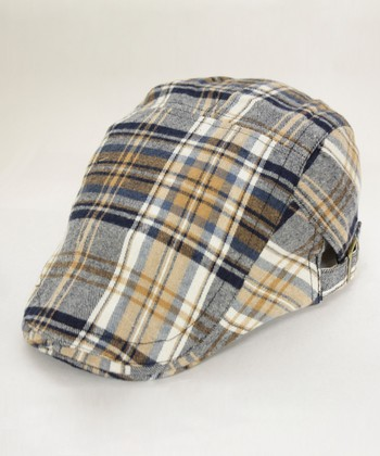 Orange Plaid Cap