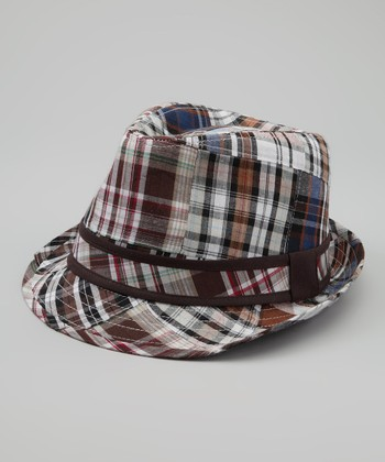 Brown Plaid Fedora