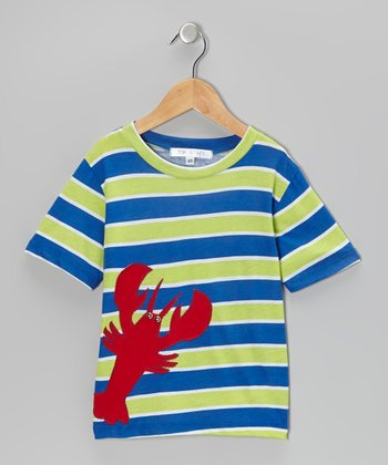 Royal & Red Stripe Lobster Tee - Toddler & Boys