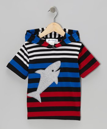 Red & Black Shark Tee - Infant & Boys