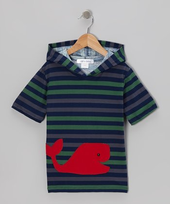 Navy & Red Whale Tee - Infant & Boys