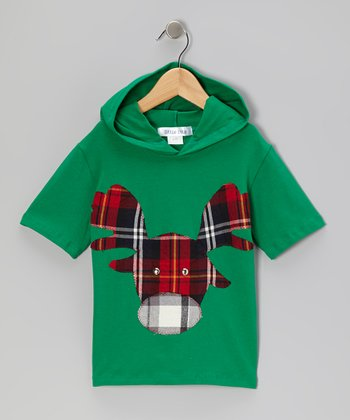 Green & Red Moose Tee - Infant & Boys