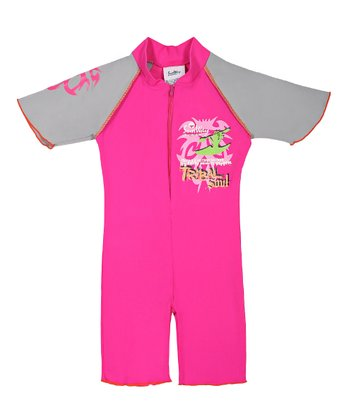 Pink 'Tribal Soul' One-Piece Rashguard - Infant, Toddler & Girls