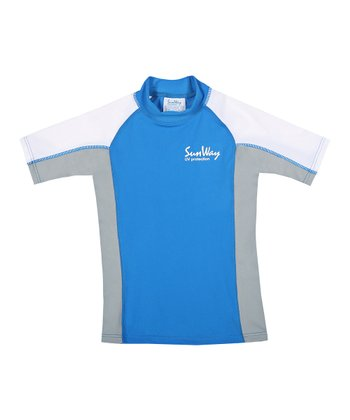 Blue Rashguard - Toddler & Boys