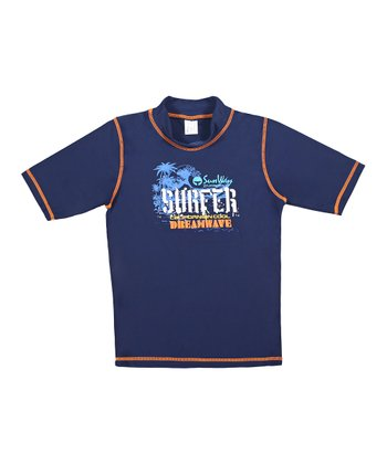 Navy 'Surfer' Rashguard - Toddler & Boys