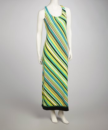 Green Stripe Maxi Dress