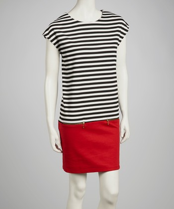 Black & White Stripe Shift Dress