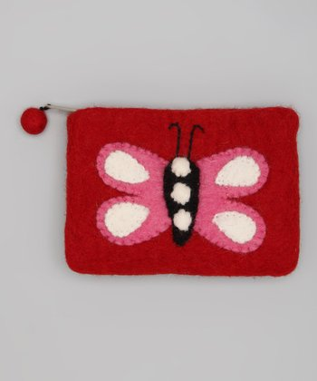 Red & Pink Butterfly Coin Purse