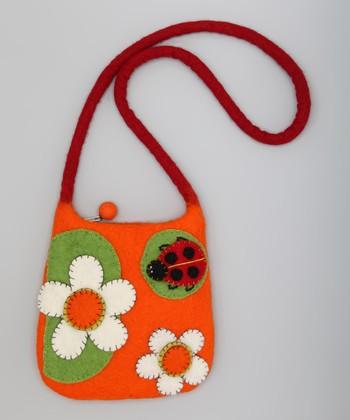 Orange & Green Ladybug Shoulder Bag