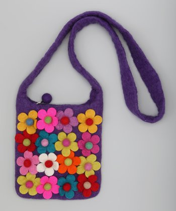 Purple Garden Crossbody Bag