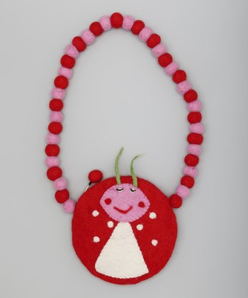 Red & Pink Ladybug Shoulder Bag