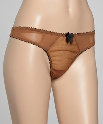 American Tan Sheer Dessous Thong - Women & Plus
