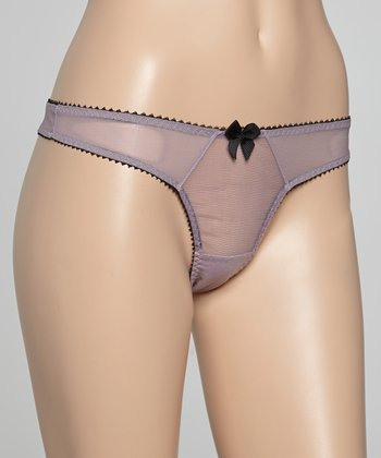 Mauve Sheer Dessous Thong - Women & Plus