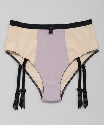 Candid Mauve Sophia High-Waisted Briefs