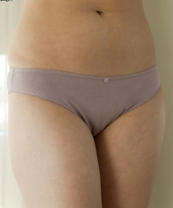 Mauve Cool Cotton Bikini Briefs