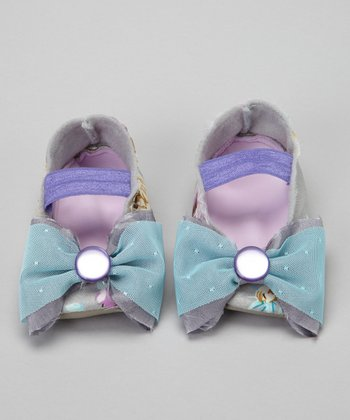 Gray & Blue Lavender Rose Flat
