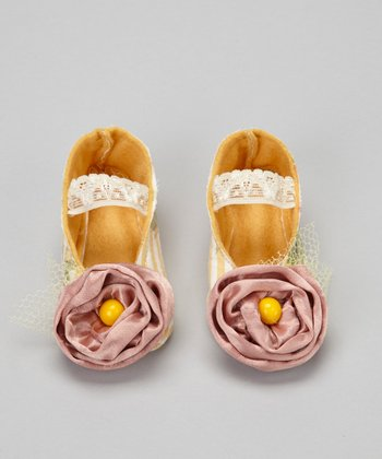 Yellow & Purple Delicate Rose Flat - Kids