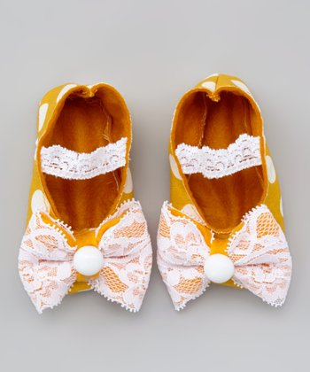 Yellow Polka Dot Shoe