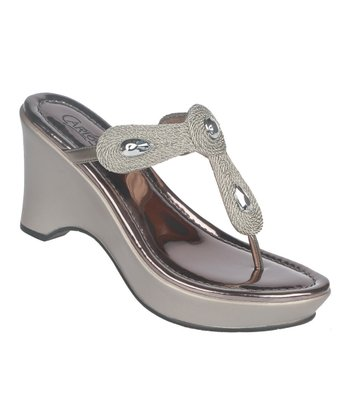Pewter Kona Wedge Sandal