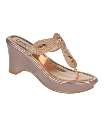 Rose Gold Kona Wedge Sandal