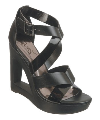 Black Demi Wedge Sandal