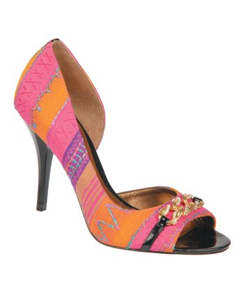 Pink Juliet Peep-Toe Pump
