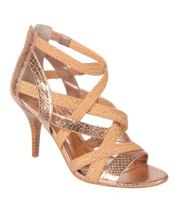 Rose Gold Nouvelle Stiletto Sandal