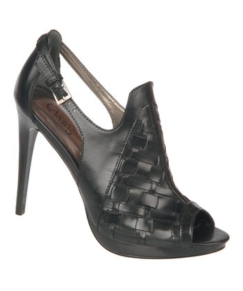 Black Legendary Peep-Toe Pump