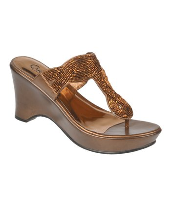 Bronze Campbell Wedge Sandal
