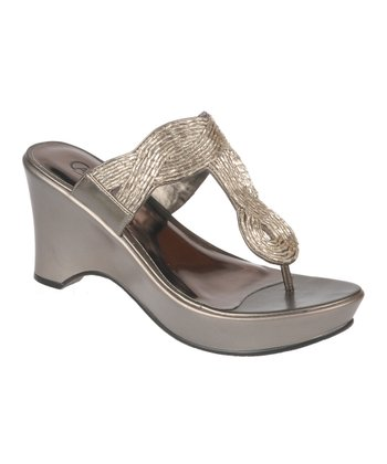 Silver Campbell Wedge Sandal