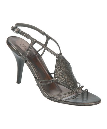 Pewter Kosi Stiletto Sandal