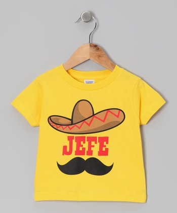 Yellow 'Jefe' Tee - Toddler & Kids
