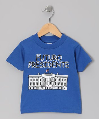 Royal Blue 'Futuro Presidente' Tee - Infant, Toddler & Kids