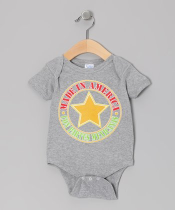 Athletic Heather 'Made in America' Bodysuit - Infant