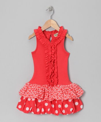 Cinnamon Ruffle Bubble Dress - Toddler & Girls